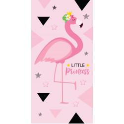 Памучна плажна кърпа Фламинго Принцеса