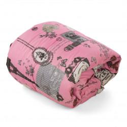 Олекотена завивка микрофибър Pink Paris