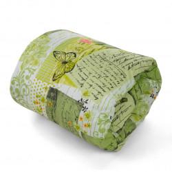Олекотена завивка микрофибър Love Letter Green