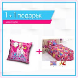 Детско спално бельо Принцеси + декоративна възглавница Barbie