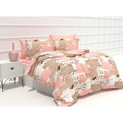 Памучно спално бельо Розов Летър 3