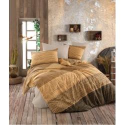 Спално бельо ранфорс Stripes Gold