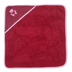 Бебешка хавлийка с апликация 100% памук Рубинено червено