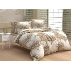 Памучно спално бельо Клонки бежово
