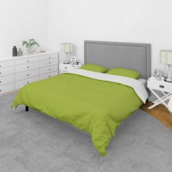 Спално бельо от микрофибър Бяло и Зелено