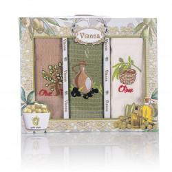 3бр. Вафлени кърпи в кутия  Olivera