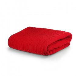 Плетено одеяло Тирол червено