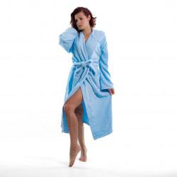 Хавлиен халат с качулка Style синьо