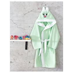 Детски халат с ушички в Зелено