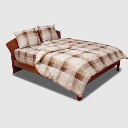 Спално бельо фин памук Бърч капучино