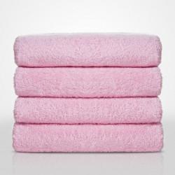 Меки и пухкави хавлиени кърпи в розово