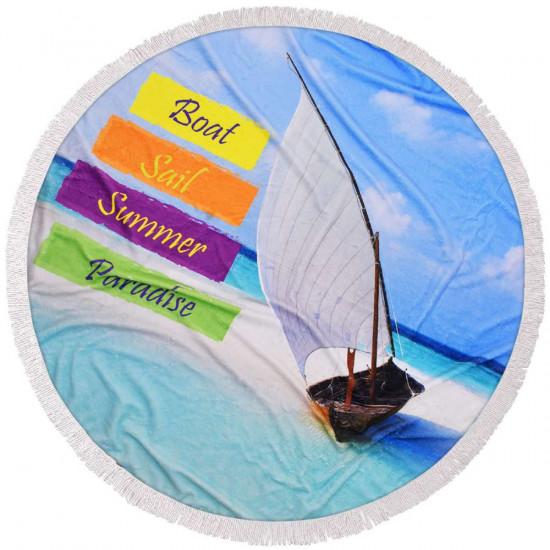 Кръгла плажна кърпа Paradise