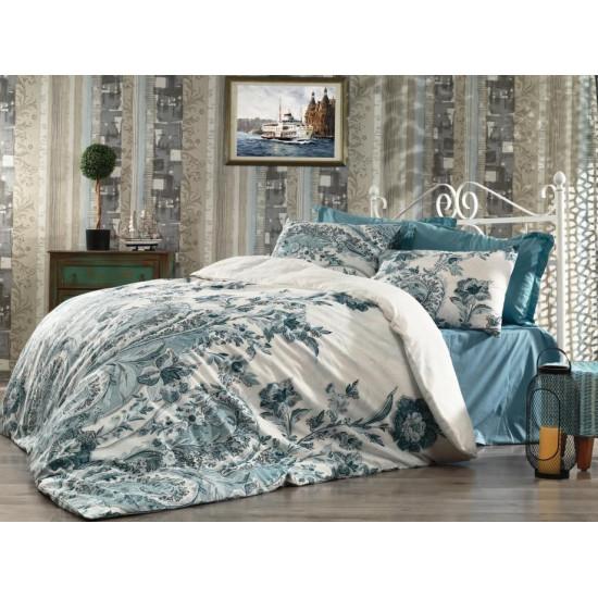 Спално бельо от фин памук Есил Аква