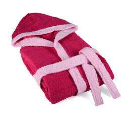 Детски халат за баня 6-8 години Розово