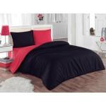 Двуцветно спално бельо 100% памук ранфорс (червено/черно) от StyleZone