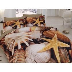 3D Спално Бельо Памучен сатен - Морско дъно от StyleZone
