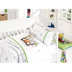 Бебешко спално бельо - Penguins Green от StyleZone
