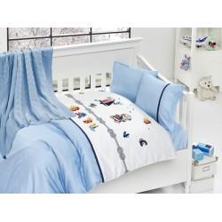 Бебешко спално бельо с плетено памучно одеяло - Капитан от StyleZone