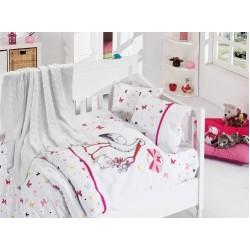 Бебешко спално бельо с плетено одеяло - Stork Pink от StyleZone
