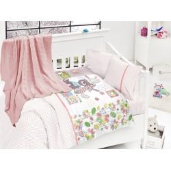 Бебешко спално бельо с плетено памучно одеяло - Уел от StyleZone