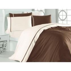 Спален комплект - Сатен - Беж Кафе от StyleZone
