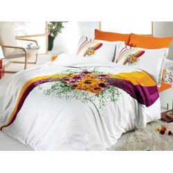Спален комплект - Сатен - Букет Оранж от StyleZone