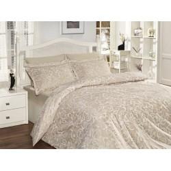 Луксозно спално бельо от сатениран памук - Света Екрю от StyleZone