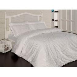 Луксозно спално бельо от 100% сатениран памук - Ванеса Крем от StyleZone