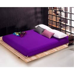 Чаршаф с ластик Ранфорс - Тъмно лилав от StyleZone