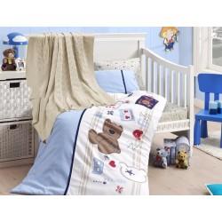 Бебешко спално бельо с плетено памучно одеяло - Joy от StyleZone