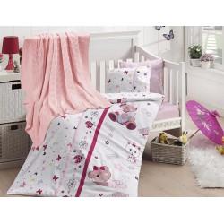 Бебешко спално бельо с плетено памучно одеяло - Cute Baby от StyleZone
