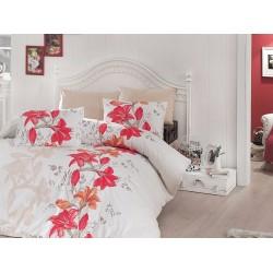 Лимитирана серия спално бельо от 100% памук - Evelin Orange от StyleZone
