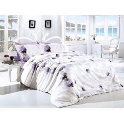 Лимитирана колекция спално бельо от 100% памук  - Leora Lila от StyleZone