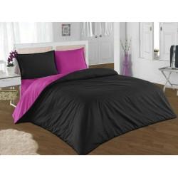 Двуцветно спално бельо от 100% памук (розово/черно) от StyleZone