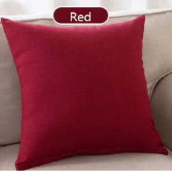 Едноцветна декоративна калъфка за възглавница с  цип - БОРДО от StyleZone