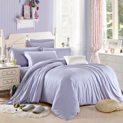 Едноцветно спално бельо от памучен сатен - СВЕТЛО ЛИЛАВО от StyleZone
