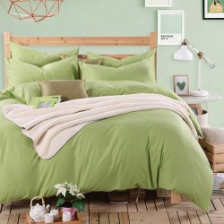 Едноцветно спално бельо от памучен сатен - НЕЖНО ЗЕЛЕНО от StyleZone