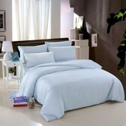 Едноцветно спално бельо от памучен сатен - СВЕТЛО СИНЬО от StyleZone