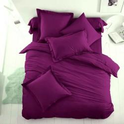 Едноцветно спално бельо от 100% памук ранфорс - НАСИТЕНО ЛИЛАВО от StyleZone