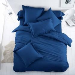 Едноцветно спално бельо от 100% памук ранфорс - НАСИТЕНО СИНЬО от StyleZone