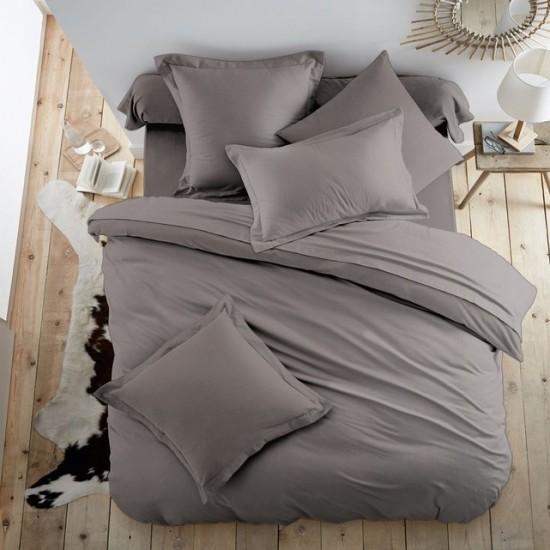 Едноцветно спално бельо от 100% памук ранфорс - ГРАФИТЕНО СИВО от StyleZone