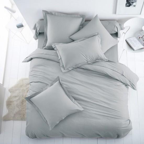Едноцветно спално бельо от 100% памук ранфорс - СВЕТЛОСИВО от StyleZone