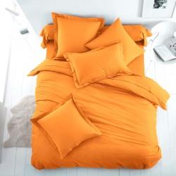Едноцветно спално бельо от 100% памук ранфорс - ОРАНЖЕВО от StyleZone