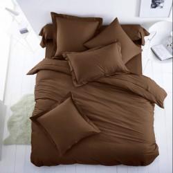 Едноцветно спално бельо от 100% памук ранфорс - ТЪМНО КАФЯВО от StyleZone