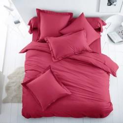 Едноцветно спално бельо от 100% памук ранфорс - БОРДО от StyleZone