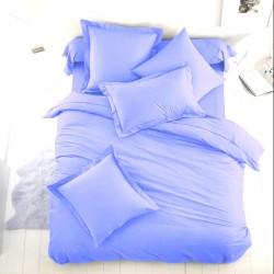 Едноцветно спално бельо от 100% памук ранфорс - СВЕТЛОСИНЬО от StyleZone