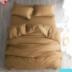 Едноцветно спално бельо от 100% памук ранфорс - ПЯСЪЧНО от StyleZone