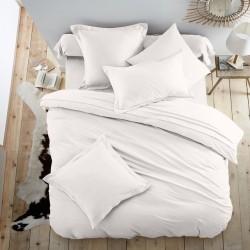 Едноцветно спално бельо от 100% памук ранфорс - СНЕЖНО БЯЛО от StyleZone