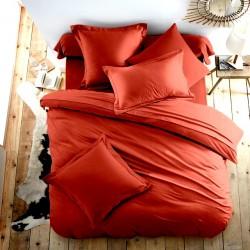 Едноцветно спално бельо от 100% памук ранфорс - КЕРЕМИДЕНО ЧЕРВЕНО от StyleZone