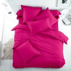 Едноцветно спално бельо от 100% памук ранфорс - ЦИКЛАМА от StyleZone
